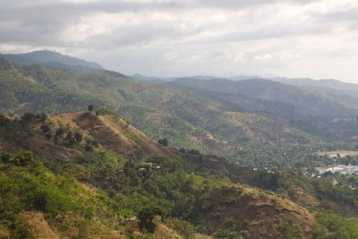 A view of hillside terrain around Dili Timor Leste