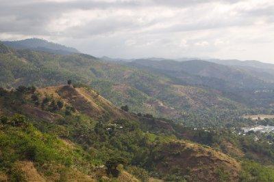 A view of hillside terrain around Dili Timor Leste