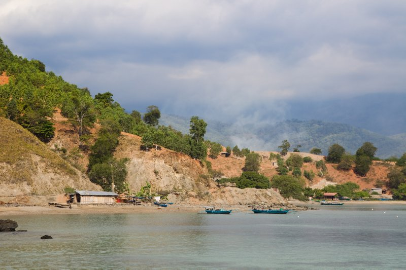 A native fishing village in timor leste