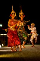 A traditional Khmer Cambodian dance depicting the ramayana epic in Siem Reap, Cambodia