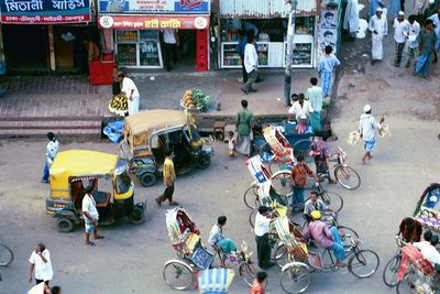 Rickshaws and Babies, Dhaka, 1999