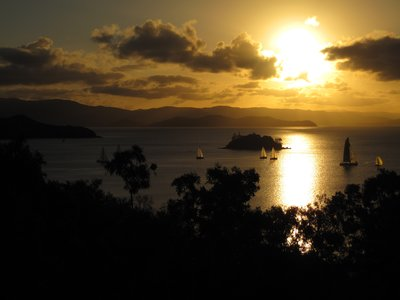 Sailboats off Hamilton Island