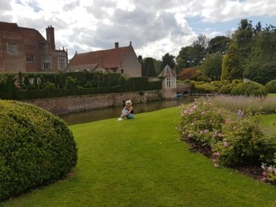 Long Melford - Jeni by moat at Kentwell Hall