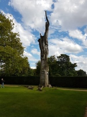 Long Melford - Jeni at Carved Tree at Kentwell Hall (2)