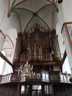 Lubeck - the last historic organ in Lubeck in St Jacobs Church