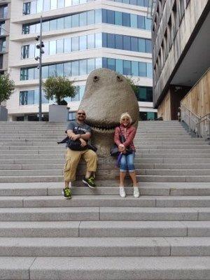 Oslo - Matthew and Jeni with Dragon