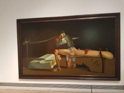 Stockholm - Salvador Dali The Enigma of William Tell 1933 in Moderna Museet on Skeppsholmen