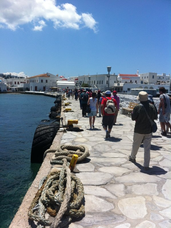 Mykonos -all of these people spent less than 1 hour on Delos