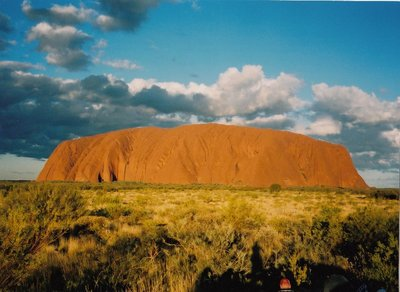 Ayres Rock or Uluru in the early morning