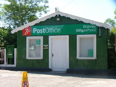 Green Post Office at Blarney, Ireland