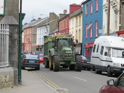 Carting hay in Skibbereen