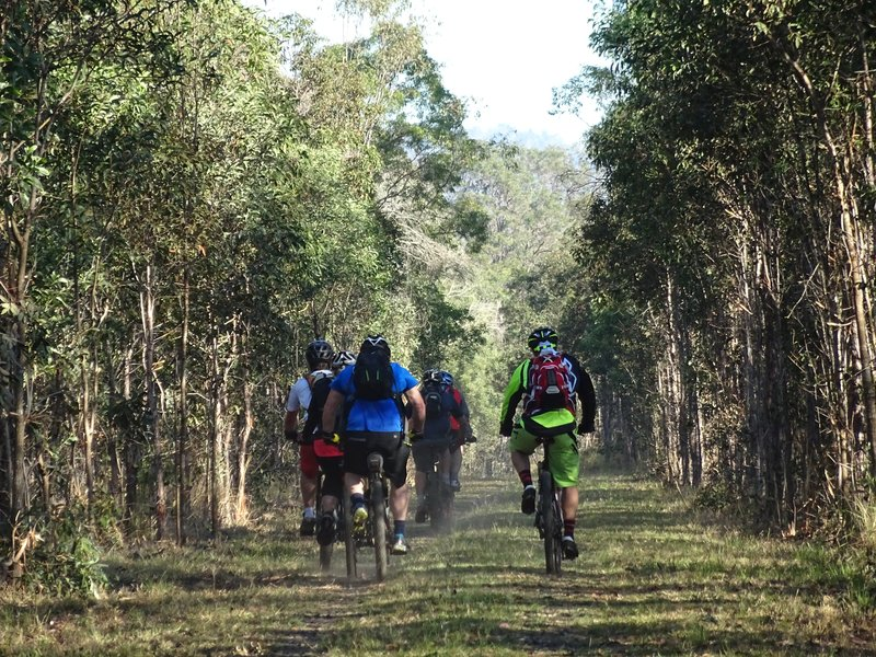 Brisbane Valley Rail Trail bikers