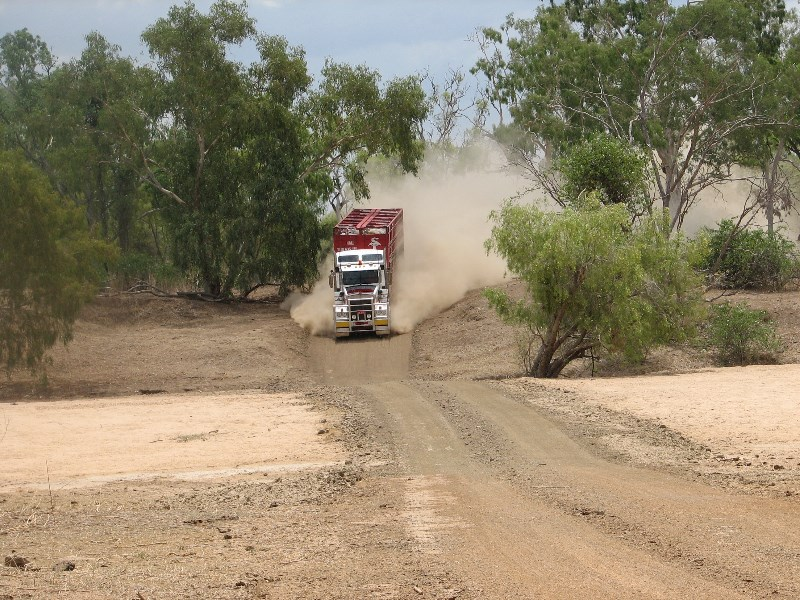 Dusty roads and roadtrains