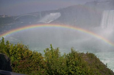 Rainbow near the American Falls