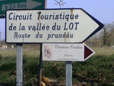 The Tourist route through the Lot valley