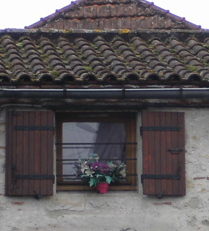 St Sylvestre sur Lot window