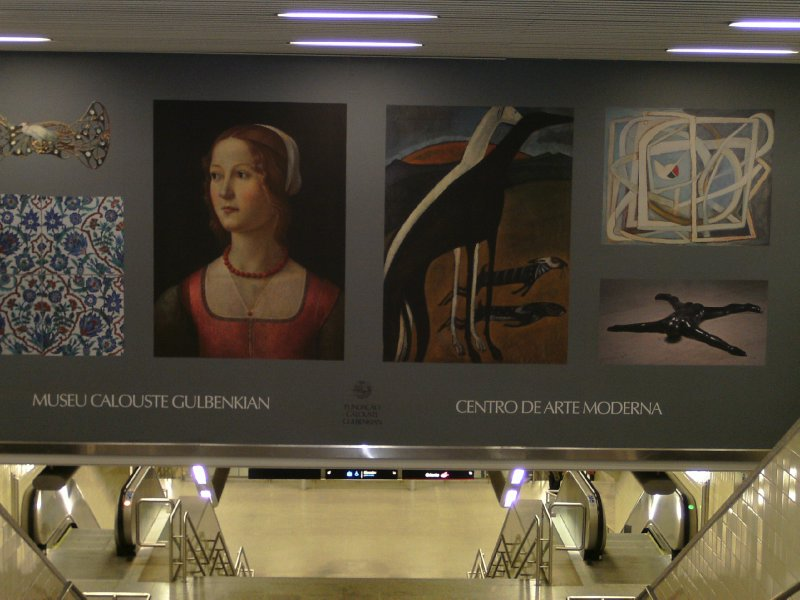Gulbenkian art expo ad in the subway
