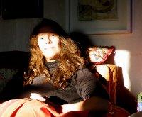 Moi basking in the winter sun