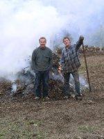 Richard and his humungous bonfire of brambles