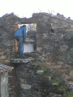 Richard inspecting ruins of Felgueiras