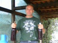 Wine maker he's happy