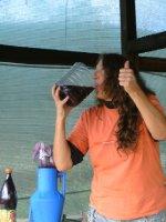 Wine she's very good!