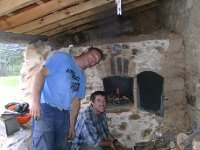 Yay! Got the bread oven going