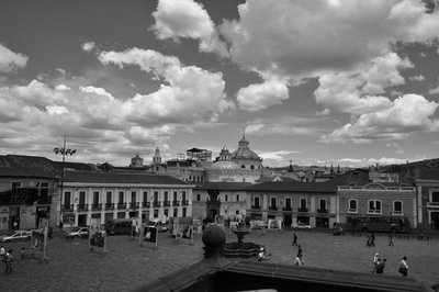 View over Quito old town