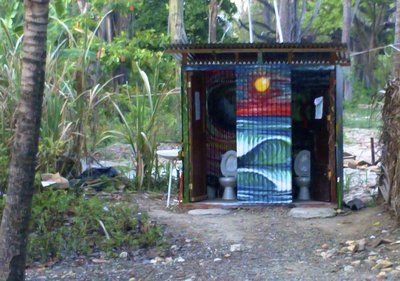 Beach toilet Costa Rica style