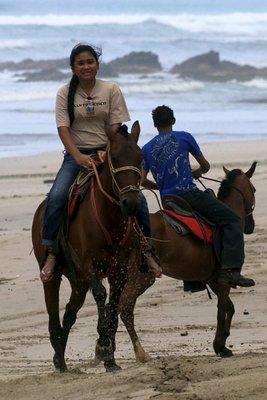 Pamela on her horse