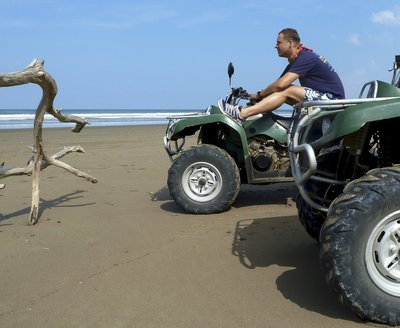Quadbiking on the beach