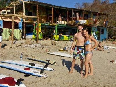 San Juan - Jess and Mike at Playa Maderas