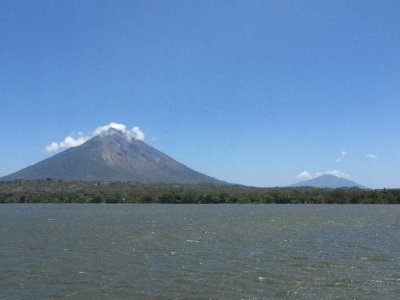 Ometepe - Volcan Concepcion (front) and Maderas (back)