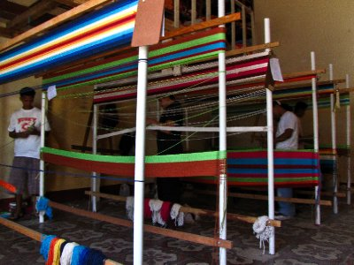 Granada - Hammock weavers at work