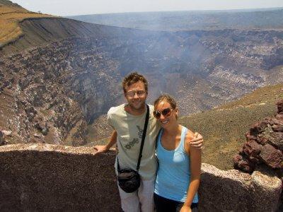 Granada - Jess and I at Volcan Masaya