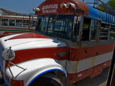Granada - Chicken buses!!