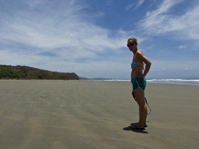 San Juan - Jess on the set of Survivor Nicaragua (Hermosa)