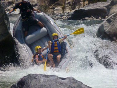 La Ceiba, Honduras - Jess and Mike Rafting
