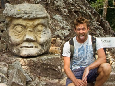Copan, Honduras - Cool giant stone head