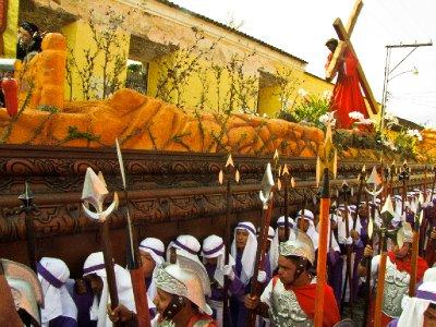 Antigua, Guatemala - Semana Santa Float