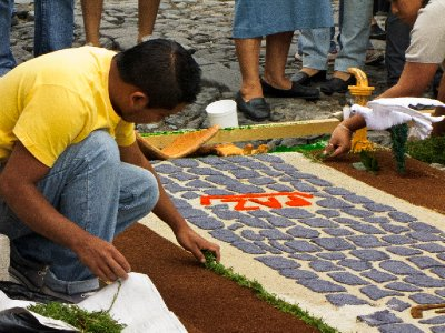 Antigua, Guatemala - Carpet Making