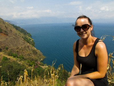 Lago de Atitlan, Guatemala -  Anna and Lake Atilan