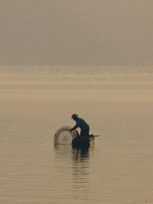 Lago de Atitlan, Guatemala -  Local Fisherman