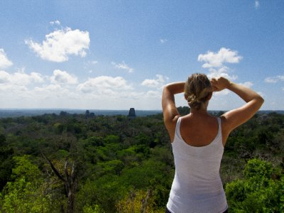 Tikal, Guatemala - View over the jungle canopy