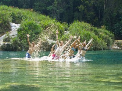 Semuc Champey, Guatemala - Sychronised Swimming