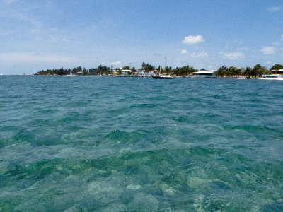 Caye Caulker, Belize - Looking back at Caye Caulker
