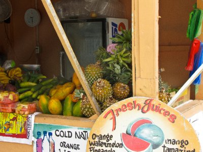 Caye Caulker, Belize - Fresh juice stand