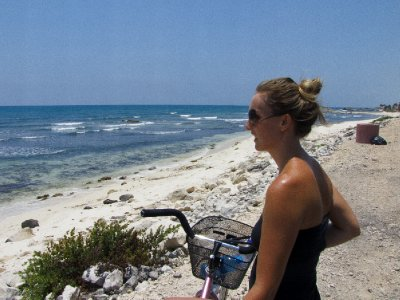 Tulum, Mexico - Our first glimpse of Tulum beach