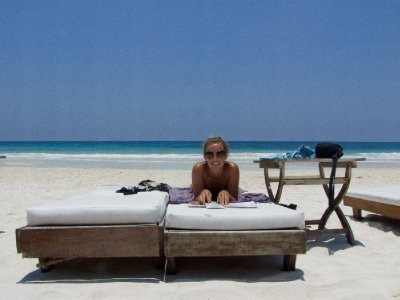 Tulum, Mexico - Lounging in the sun