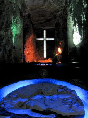 Bogota, Columbia - Salt Cathedral - Massive Cross